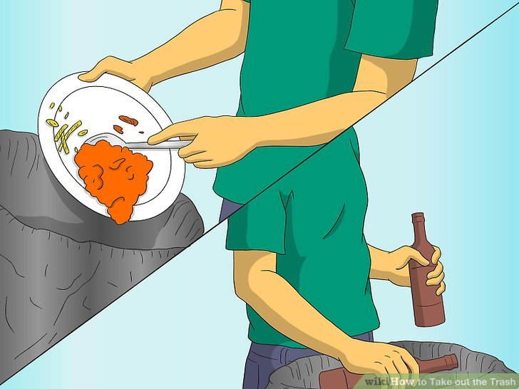 how many gallons is a kitchen trash can mr direct sinks reviews 4 ways to take out the - wikihow