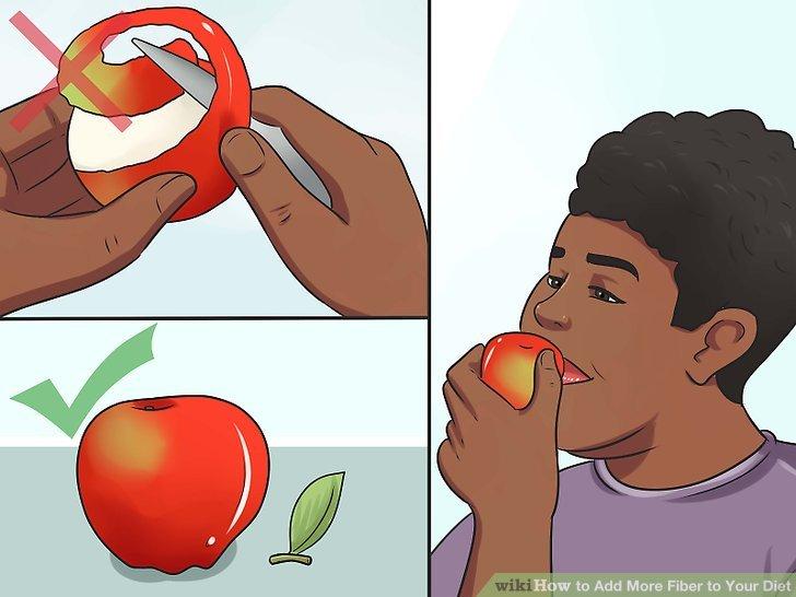 Lassen Sie die Haut auf Obst und Gemüse.