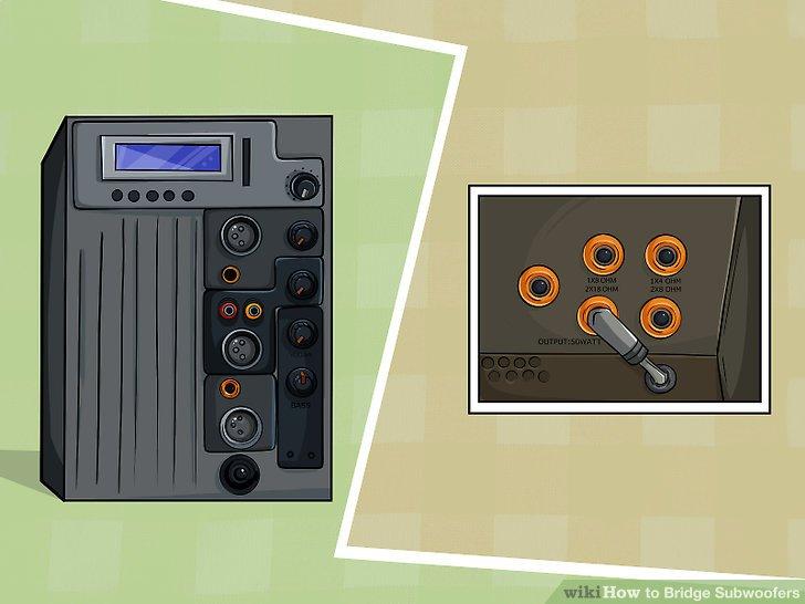 monoblock wiring diagram spotlight 3 ways to bridge subwoofers wikihow image titled step 1
