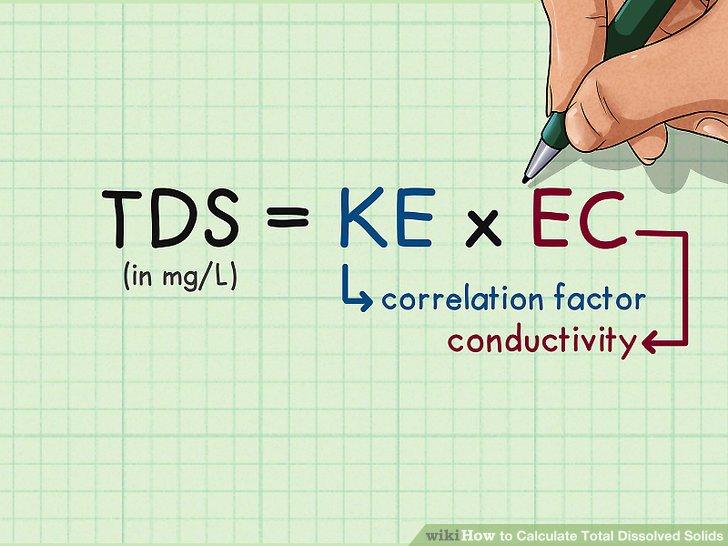 Stecken Sie Ihre Daten in die TDS-Formel.