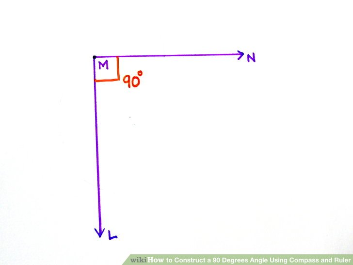 90 degree diagram 91 honda civic hatchback radio wiring how to construct a degrees angle using compass and ruler image titled step 8bullet1