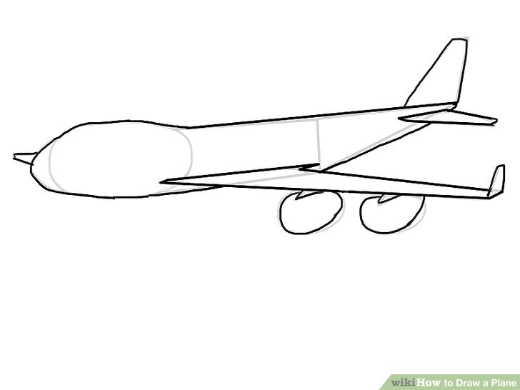 paper airplane diagram of parts 7 pin plug wiring australia 4 ways to draw a plane wikihow image titled step