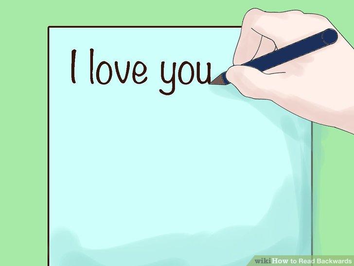 Bir kağıda kısa bir cümle yazın.