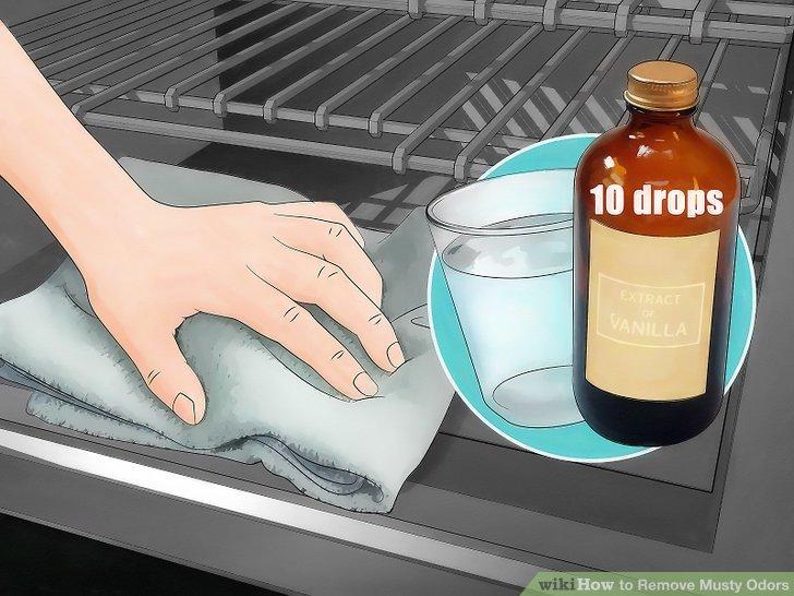 Entfernen Sie die Gerüche aus dem Ofen mit Spülmittel, Natron, Essig und Vanille.