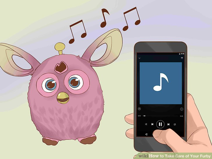 Listen to music with your Furby.