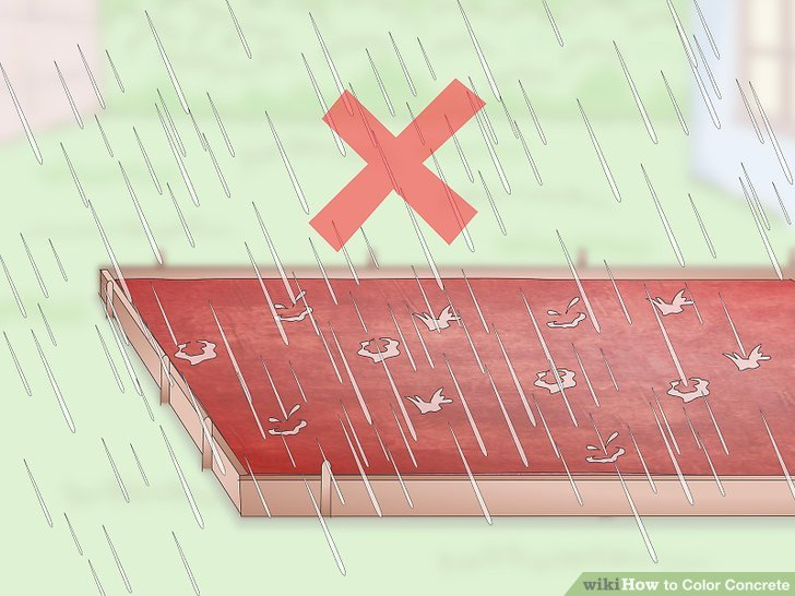 Avoid dyeing in rainy weather.