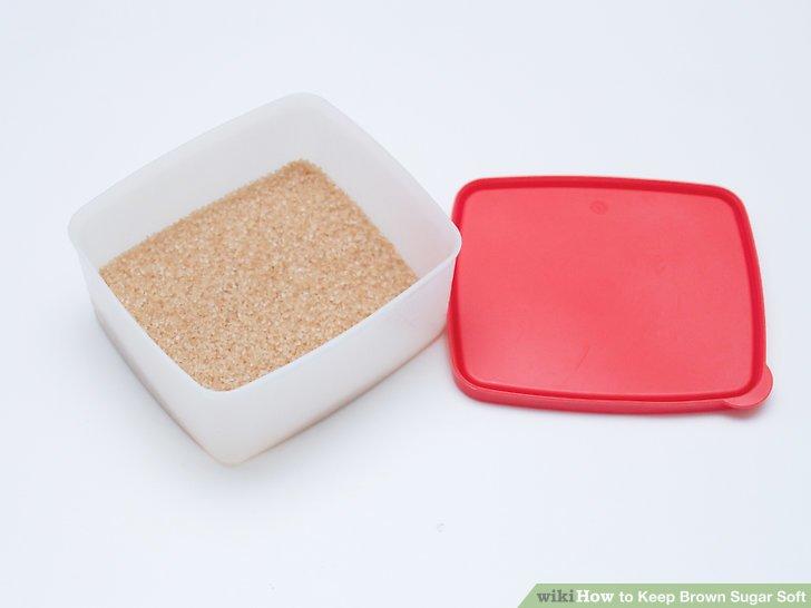 Store brown sugar in an airtight container.