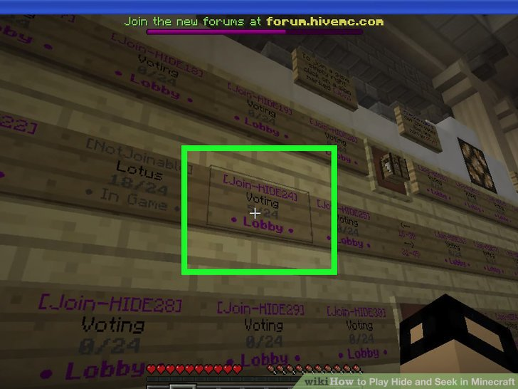 How To Play Hide And Seek In Minecraft 9 Steps With Pictures