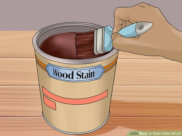 Mix up your stain with a paint brush, foam brush, or rag.