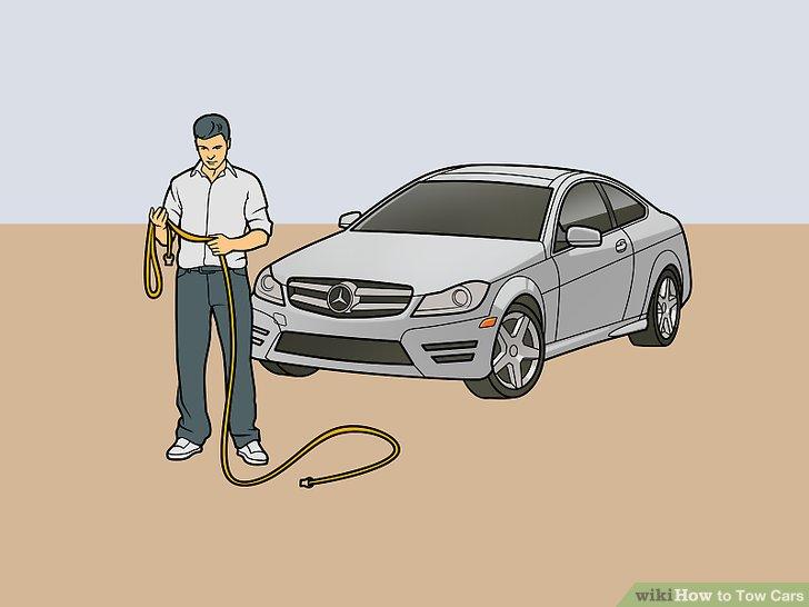Das Abschleppseil entwirren und vor dem Fahrzeug auslegen.