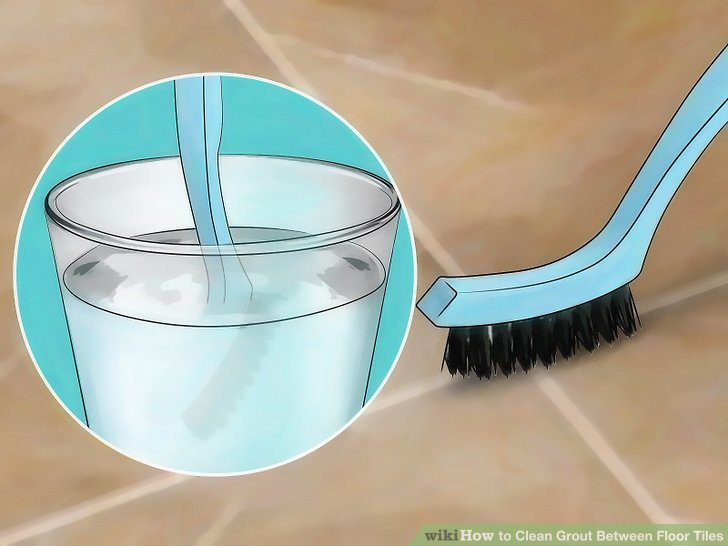 Dip the brush into the oxygenated bleach powder to increase cleaning power.