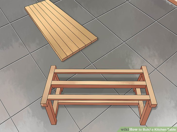 build kitchen table blue cabinets how to a with pictures wikihow image titled step 20