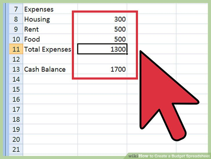 How to Create a Budget Spreadsheet: 15 Steps (with Pictures)