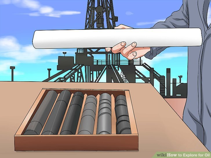 Analysieren Sie während des Bohrens Gesteinsproben.