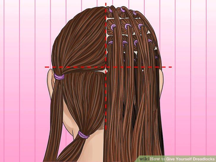 Schneiden Sie Ihre Haare in Quadrate.