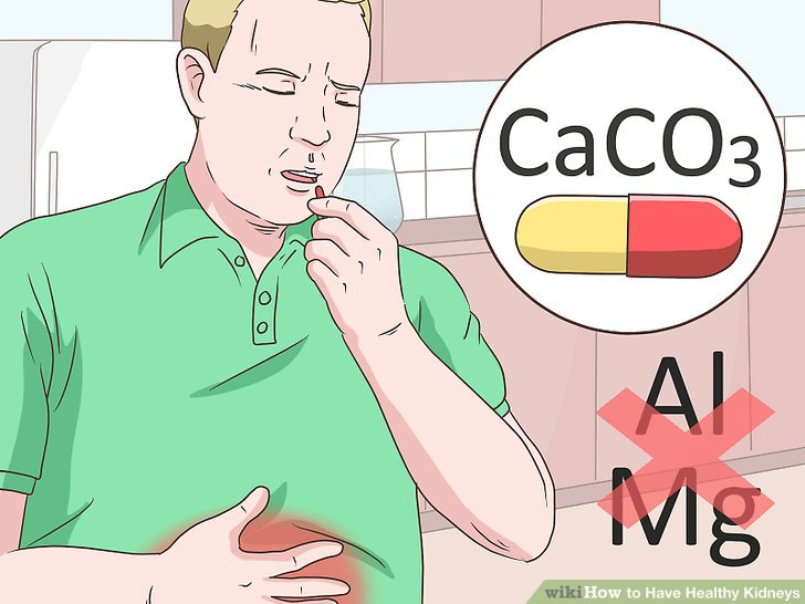 Use calcium carbonate for indigestion.