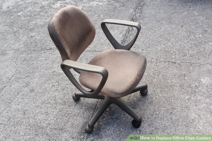 office chair castors best chairs for standing desks how to replace casters 15 steps with pictures image titled step