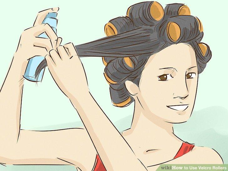 Wickeln Sie Ihre Haare von den Enden bis zur Wurzel.