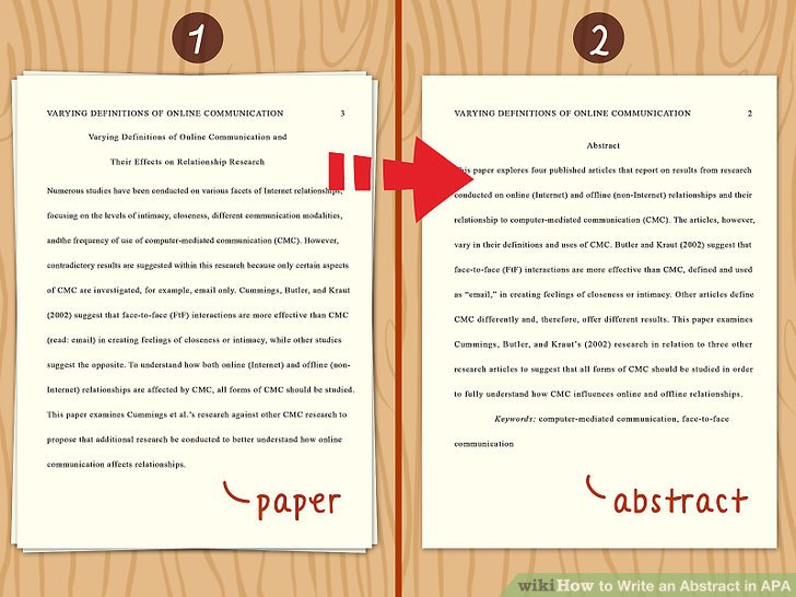 How To Write An Abstract In APA 14 Steps With Pictures