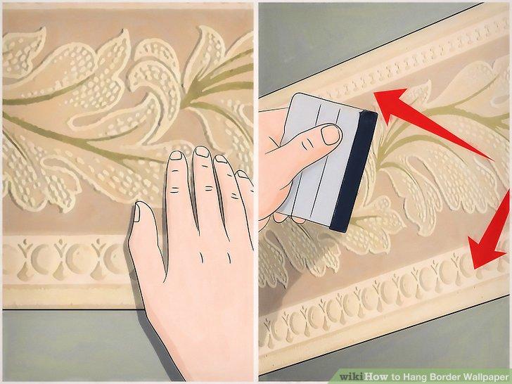 Falten Sie den Rand weiter auf und glätten Sie ihn in die Wand, bis Sie das Ende des Stücks erreichen.