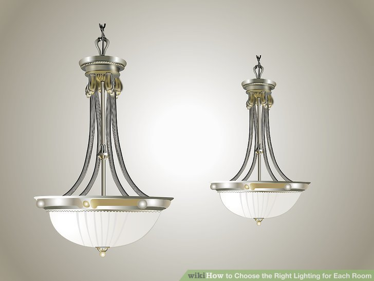 Make sure to size the decorative fixture to the space.