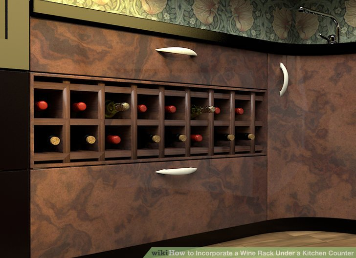 kitchen counter rack bar lighting how to incorporate a wine under 9 steps image titled step