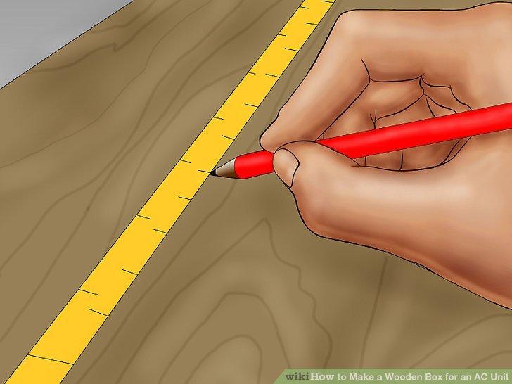 Addieren Sie Ihre Maße und Holzbreiten mathematisch, um die korrekten Abmessungen für die Box sicherzustellen.