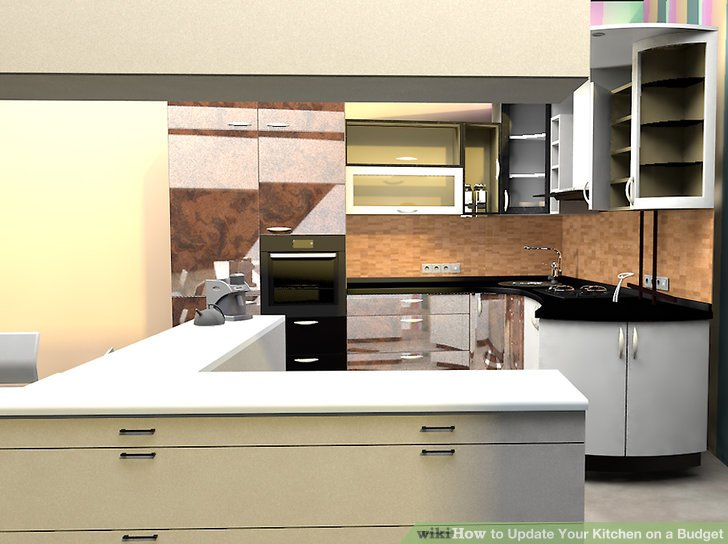 kitchen on a budget small design ideas 4 ways to update your wikihow image titled step 8