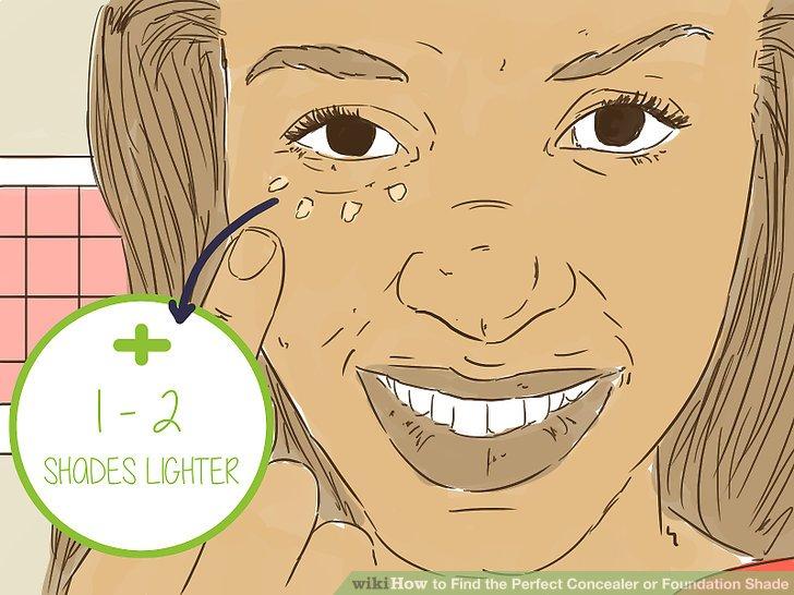 Gehen Sie 1-2 Farben heller als der Hautton, um dunkle Bereiche zu neutralisieren.