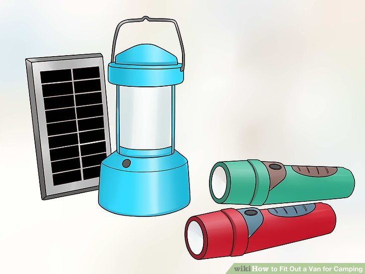 Pack flashlights or solar lanterns to have light at night.