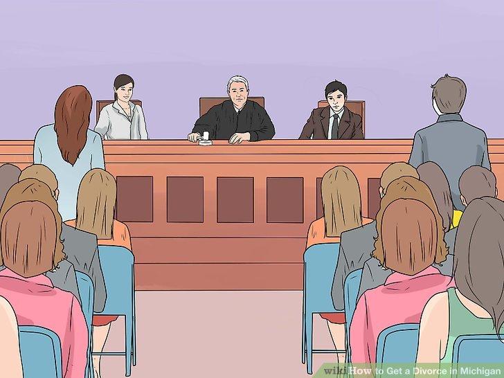 Gehen Sie zu Ihrer letzten Anhörung.