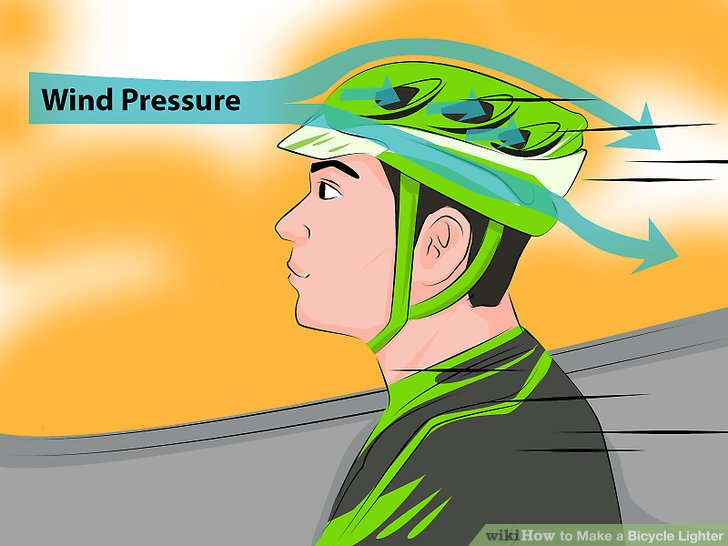 Tragen Sie ein Paar aerodynamische Schuhe und einen Helm.