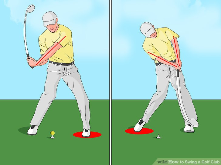 Follow through with your downswing.
