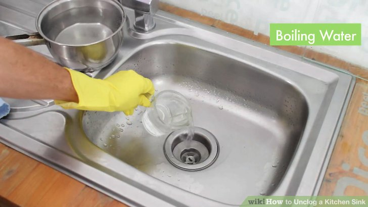 unclog kitchen drain stores 3 ways to a sink wikihow image titled step 9