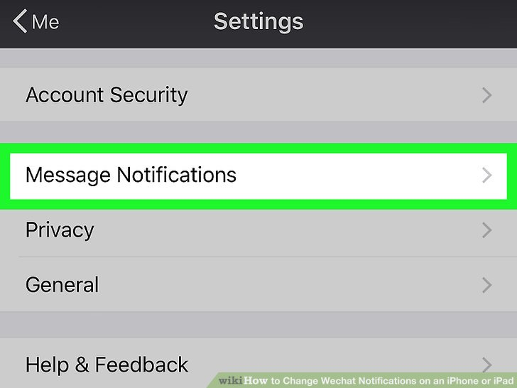 How to Change Wechat Notifications on an iPhone or iPad 5