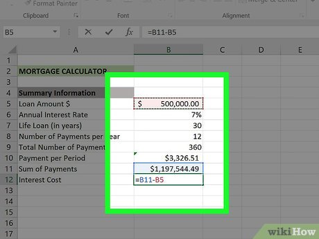 Mortgage calculation formula