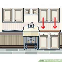 Ikea Kitchen Cabinets Pictures Of Islands How To Install With Wikihow Image Titled Step 15