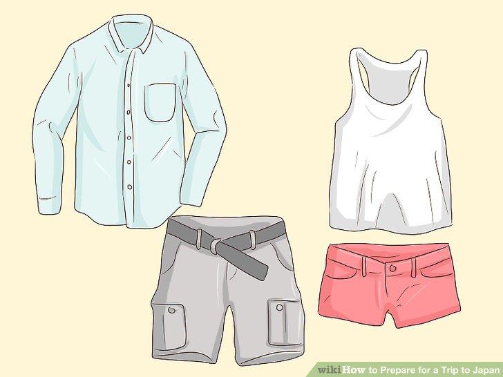 Packen Sie leichte Kleidung für die Sommermonate.