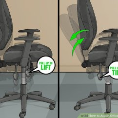 Ergonomic Chair Instructions Covers For Banquets 3 Ways To Adjust Office Height - Wikihow