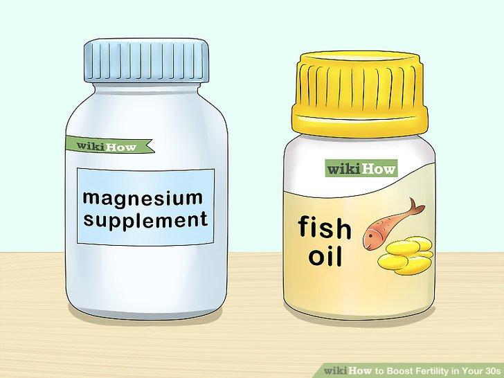 Nehmen Sie Fischöl und Magnesiumpräparate ein, um Ihre Fruchtbarkeit zu steigern.