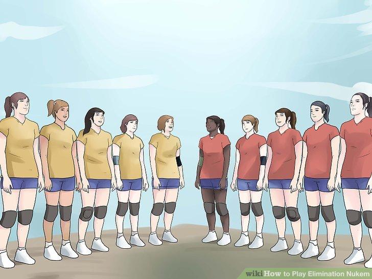 Holen Sie sich 10 Spieler zusammen; fünf für jedes team