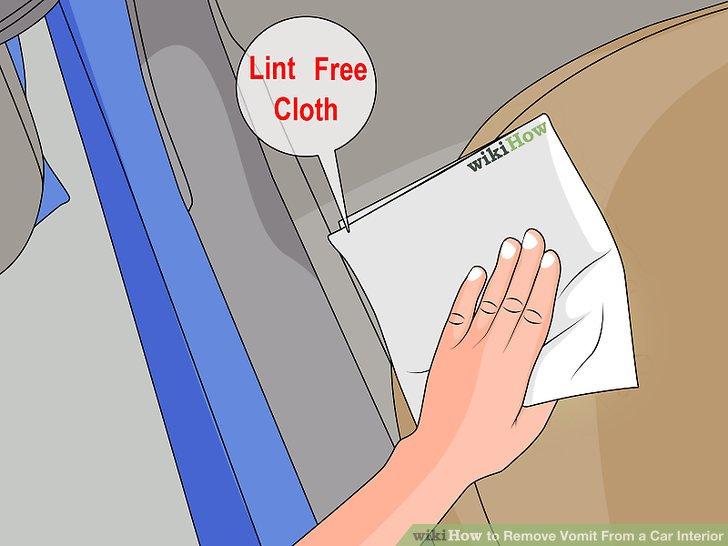 Tupfen Sie den Bereich mit fusselfreien Tüchern trocken.
