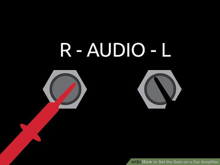 Stecken Sie die Kabel des Multimeters in die Ausgangsanschlüsse Ihres Verstärkers.