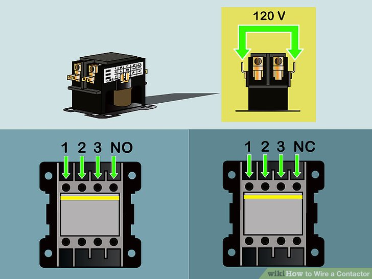 How To Wire Contactor And Overload Relay Contactor Wiring Diagram