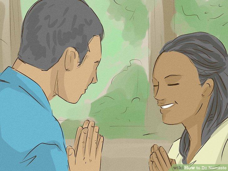 Verwenden Sie Namaste, um die Freundlichkeit zu schätzen.