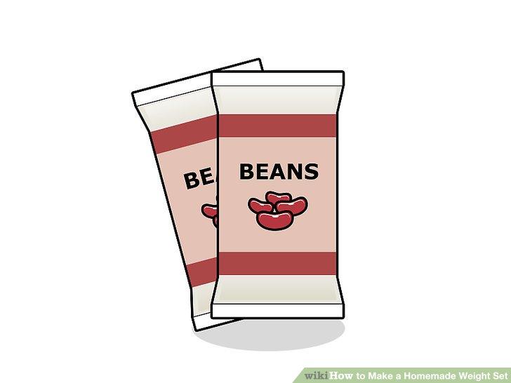 Verwenden Sie Pakete mit Reis oder Bohnen.