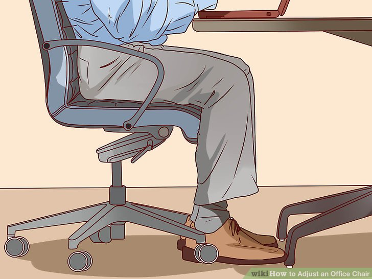 desk chair leans forward beach pictures how to adjust an office with wikihow image titled step 3