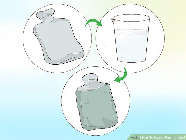 Holen Sie sich eine Wärmflasche.