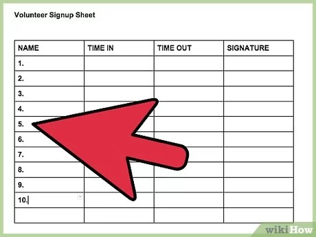 Email newsletter signup sheet doc: How To Make A Signup Sheet On Google Docs With Pictures
