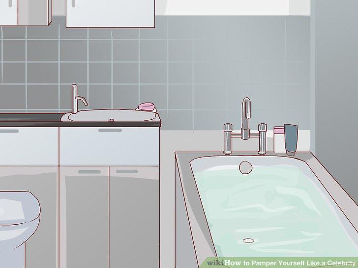 Füllen Sie das Bad mit lauwarmem Wasser.